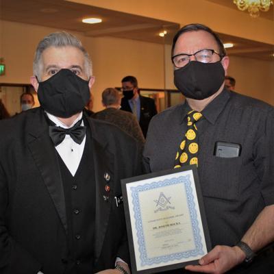 Dr. Joseph Bocka honored at Masonic Service Awards banquet