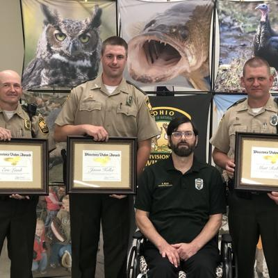 Ohio wildlife officers honored for lifesaving actions