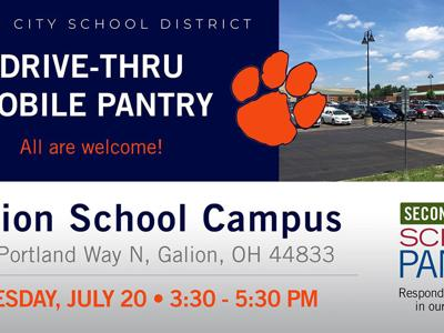 Second Harvest Mobile Food Pantry in Galion set for July 20
