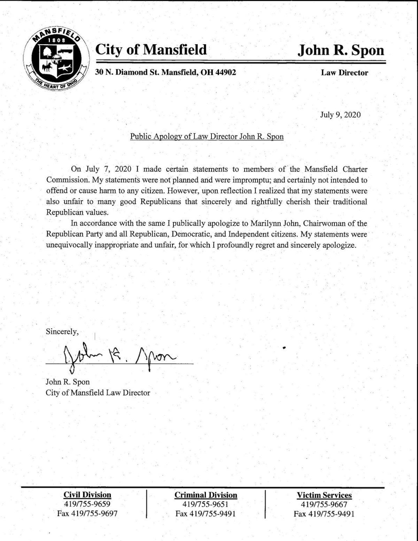 John Spon apology
