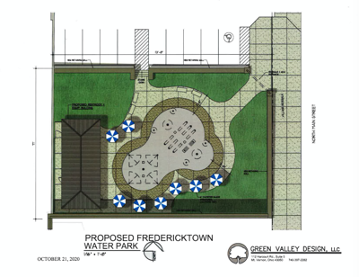 Fredericktown plaza, water amenities to be completed by fall