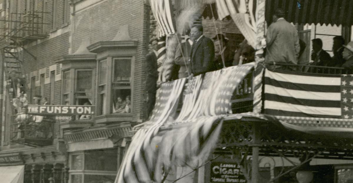 Roosevelt in Mansfield 1912