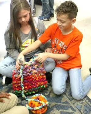 Malabar 4th grade students learn to knit