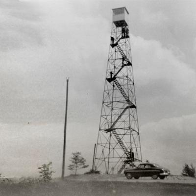 Then & Now: Fire Tower at Mohican Memorial State Forest