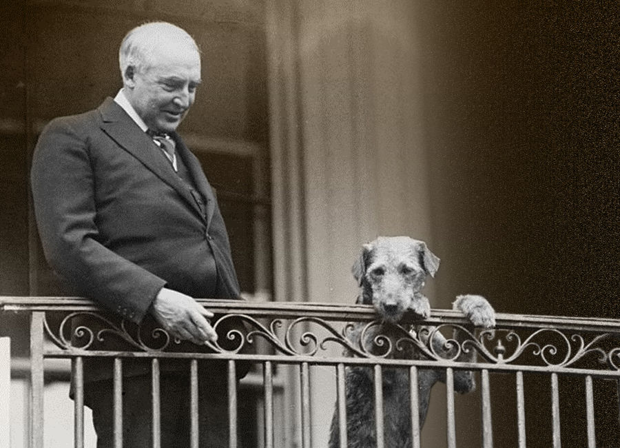 Harding and friend