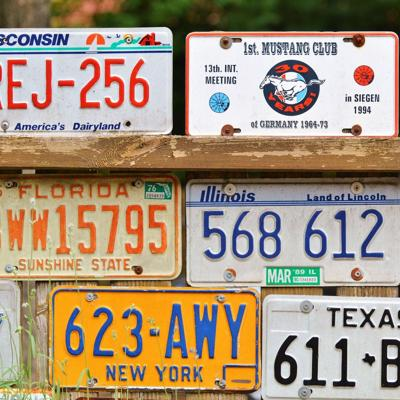 How can Crawford County respond to the removal of front license plates in Ohio?