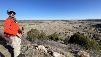 Ashland father-son team scales peak in rattlesnake country -- Oklahoma highpoint attempt #43