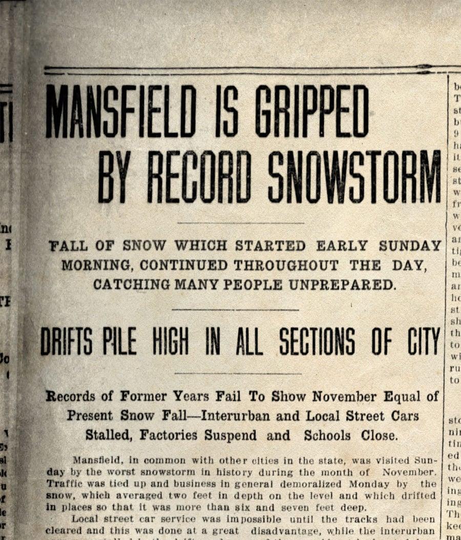 Snow headlines 1913