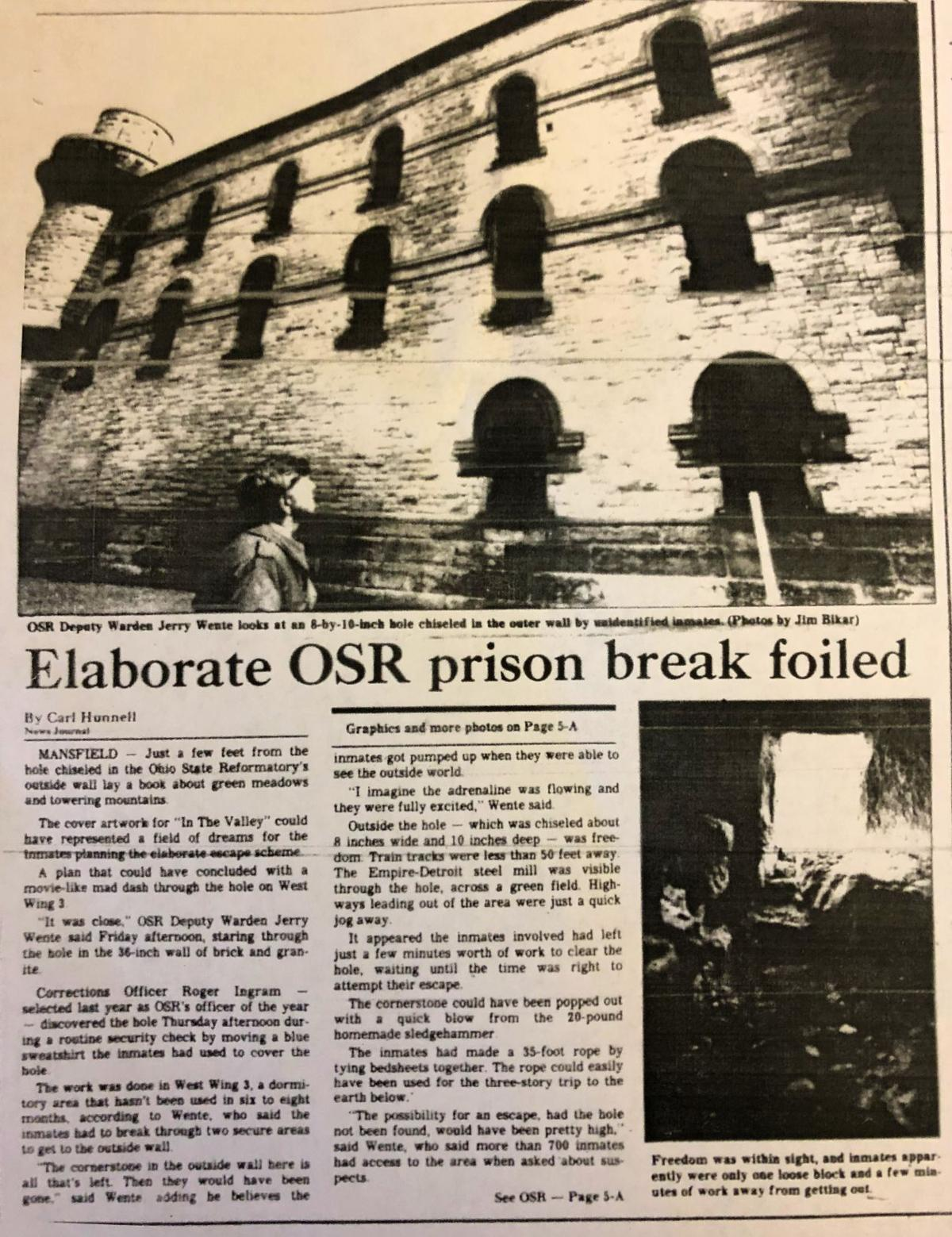 Before Shawshank, real inmates at OSR tried to tunnel their
