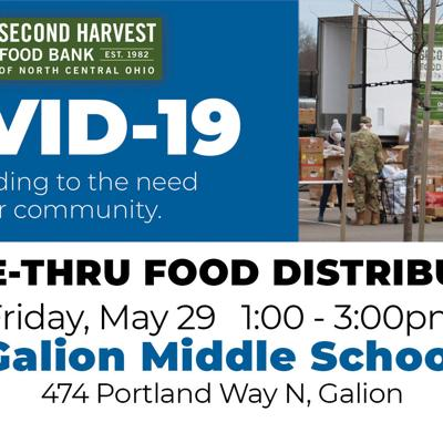 Second Harvest Food Bank slated for May 29 in Galion