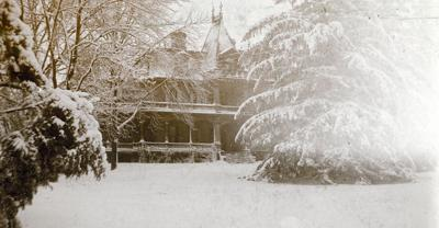 Sherman's estate in the snow 1897