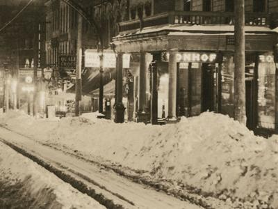 Then & Now: North Main in the snow 1913