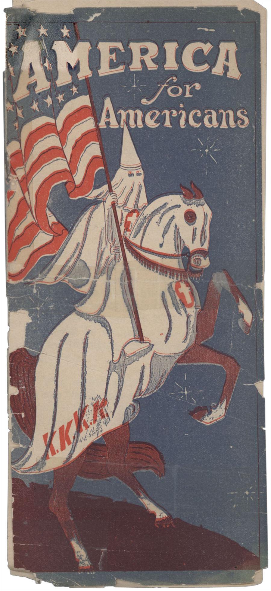 KKK pamphlet from 1920s