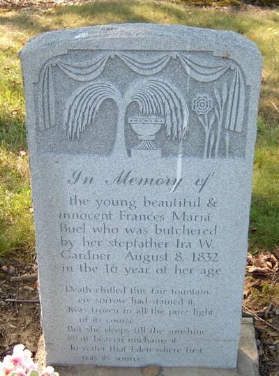 Maria Buel's headstone