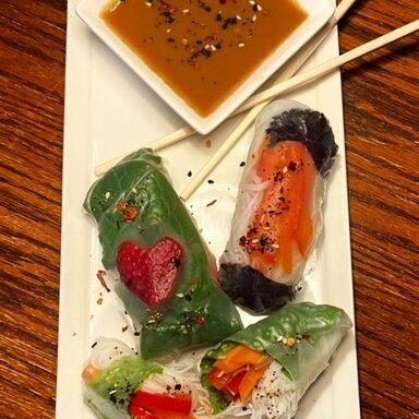 Welcome spring with fresh spring rolls