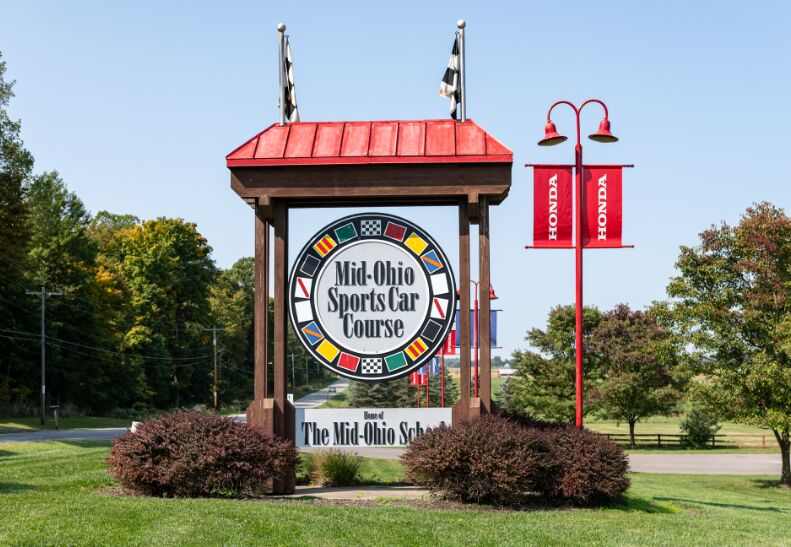 Mid-Ohio Sports Car Course sign