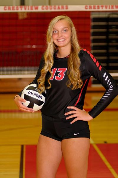 Crestview's Goon at head of area volleyball class