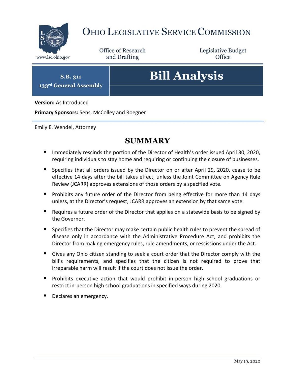 Senate Bill 311 analysis