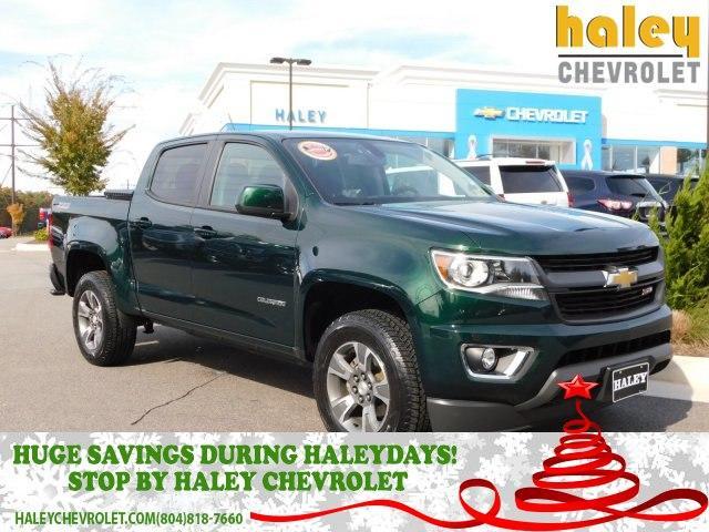 2015 Rainforest Green Metallic Chevrolet Colorado Trucks