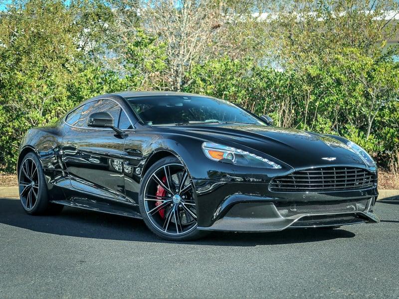 2014 Black Aston Martin Vanquish