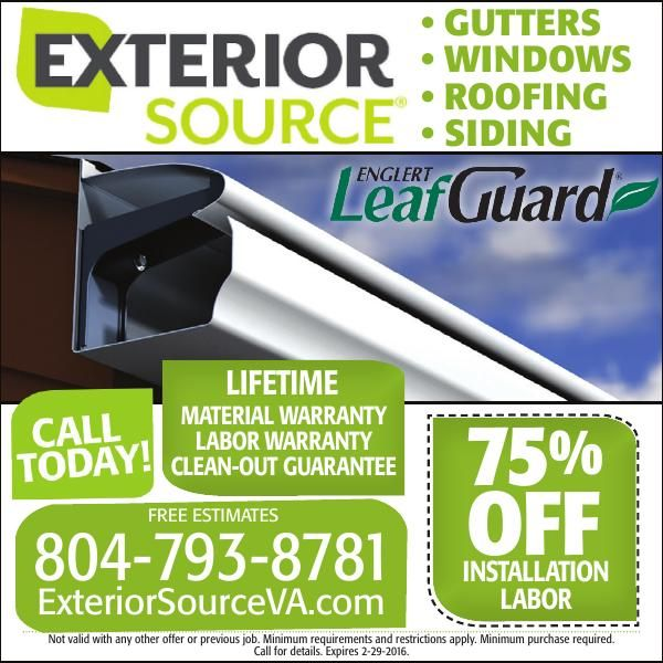 Exterior Source 75% off labor!