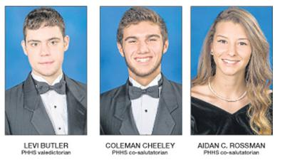 Butler leads PHHS class, Cheeley and Rossman are co-salutatorians