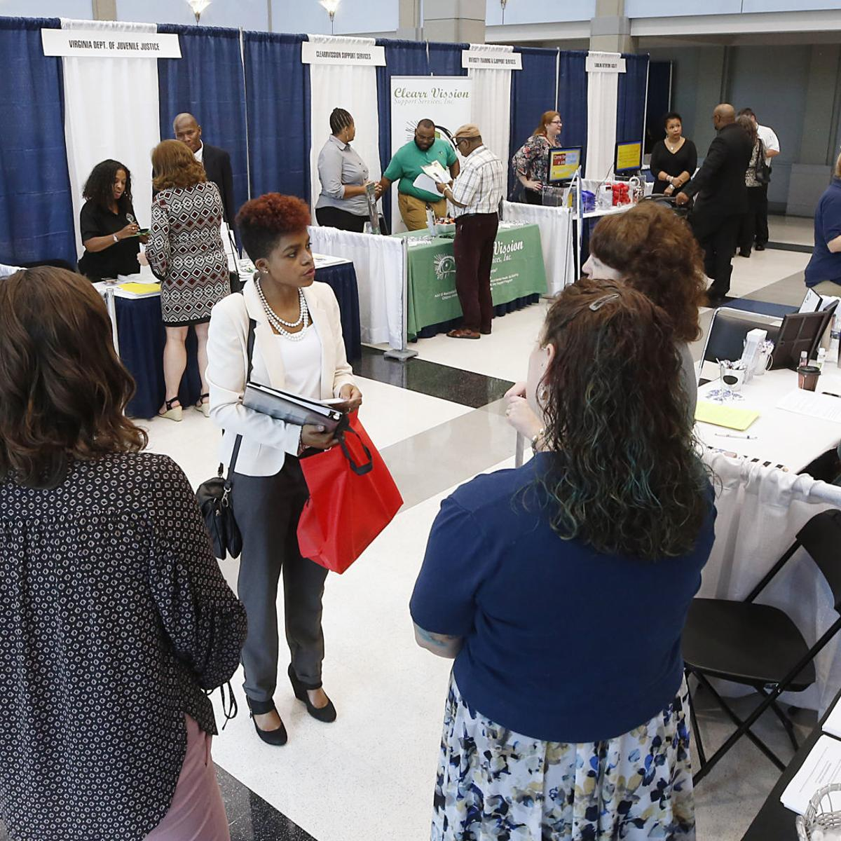 Job Seekers Meet With Potential Employers At Rtd Career Fair Business Richmond Com