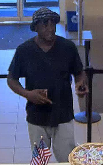 Photo of suspect who robbed Wells Fargo Bank