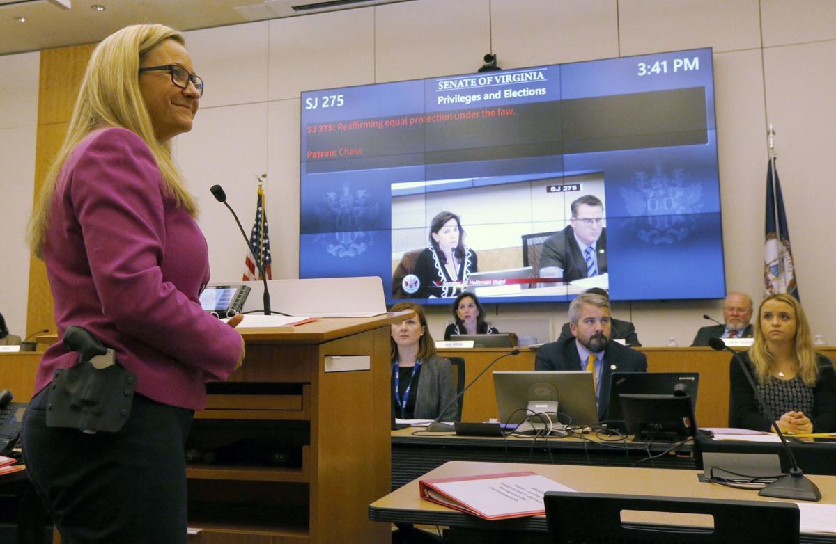Sen. Chase wears handgun to podium to present bills in committee