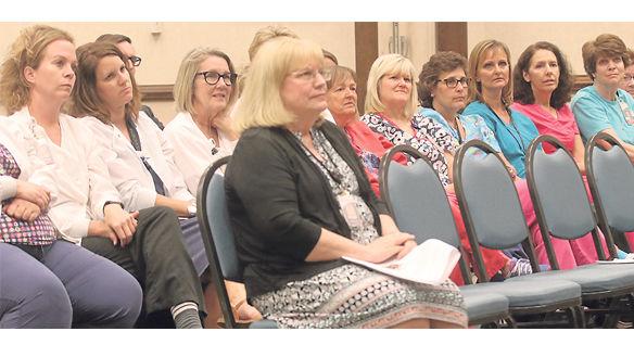 School nurses at Board meeting