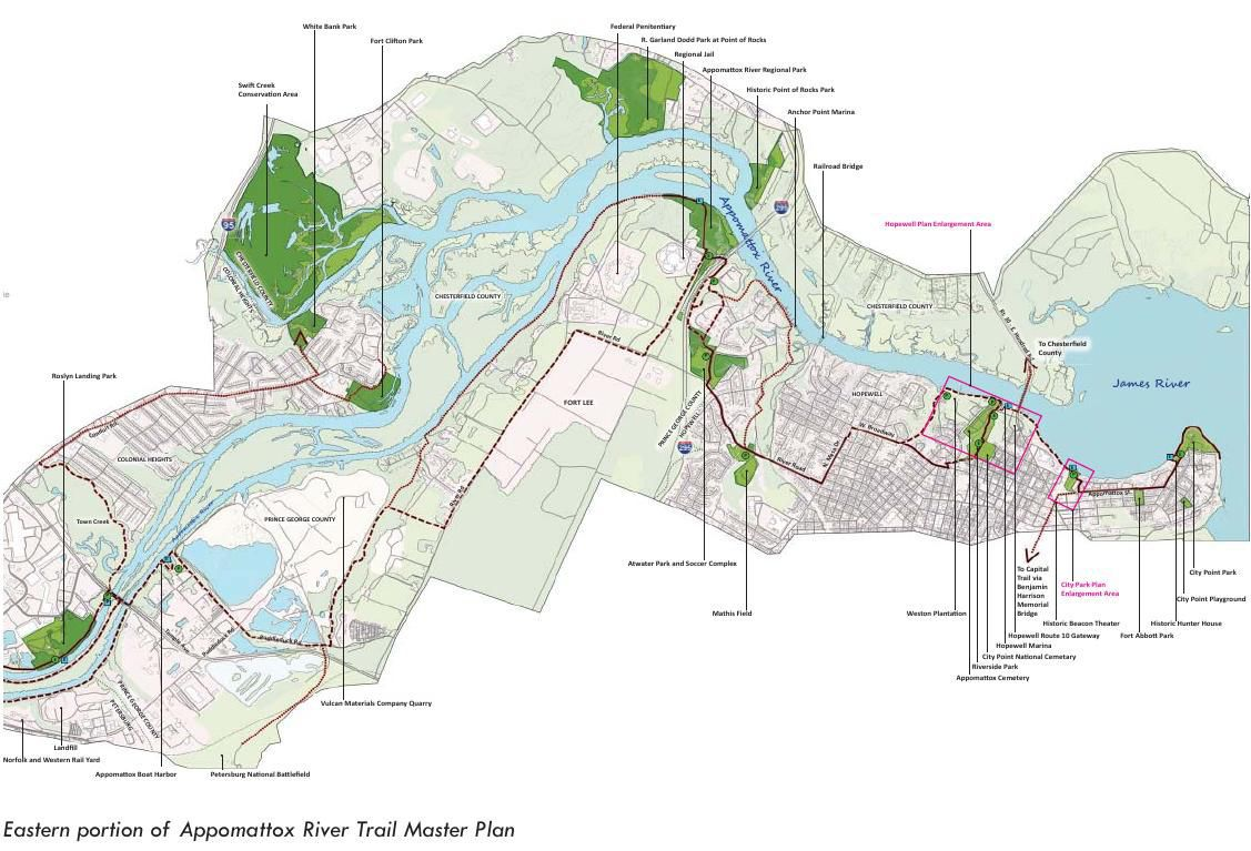 Eastern portion of appomattox river trail master plan richmond sciox Images