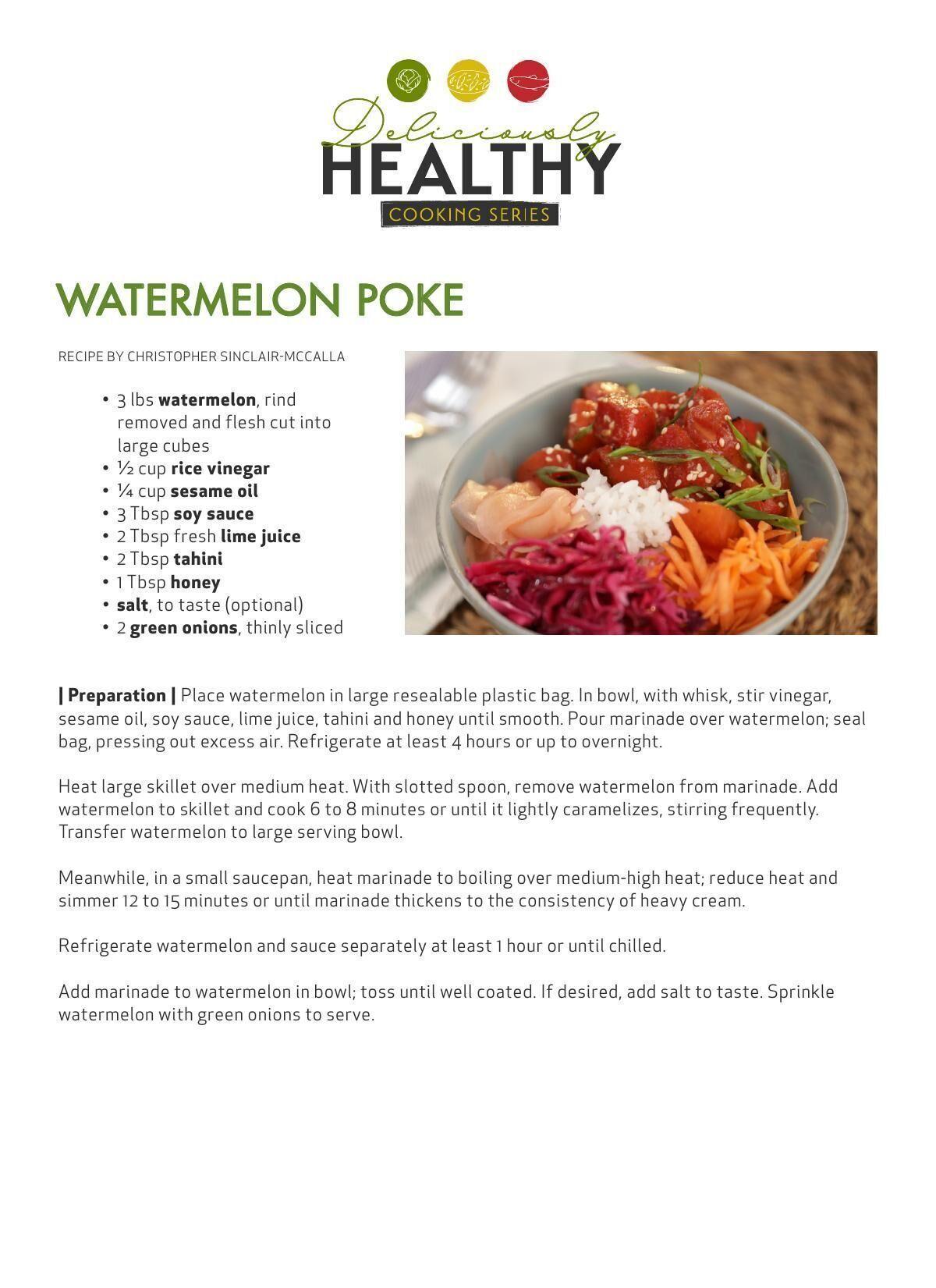 Download the watermelon poke recipe