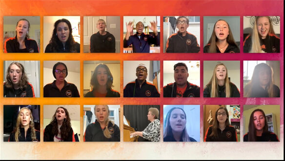 Powhatan High School chorus students join voices