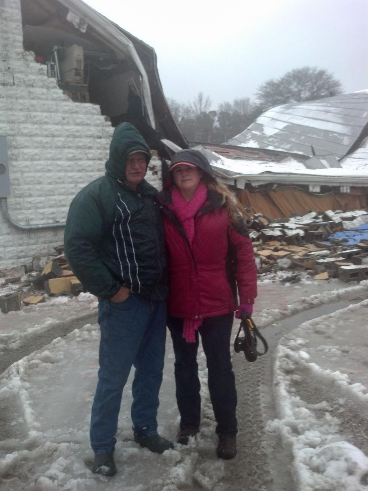 Roof collapses on historic Donk's Theater, known as