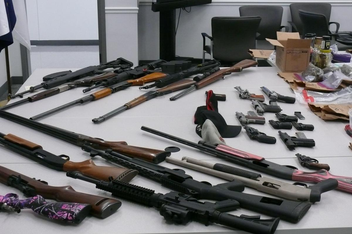 Firearms seized from James T. Taylor Jr.'s home