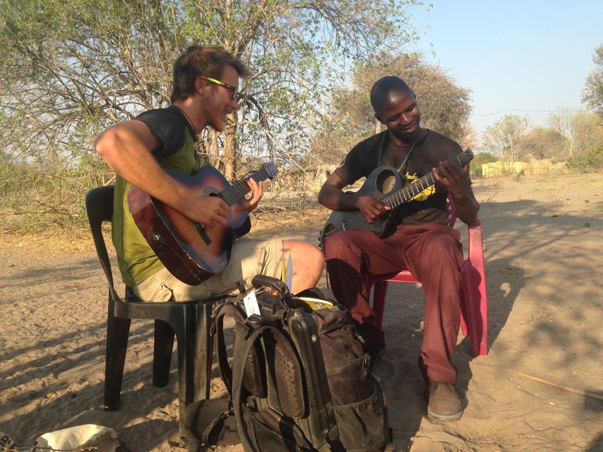 Alex Paullin in Seronga, Botswana