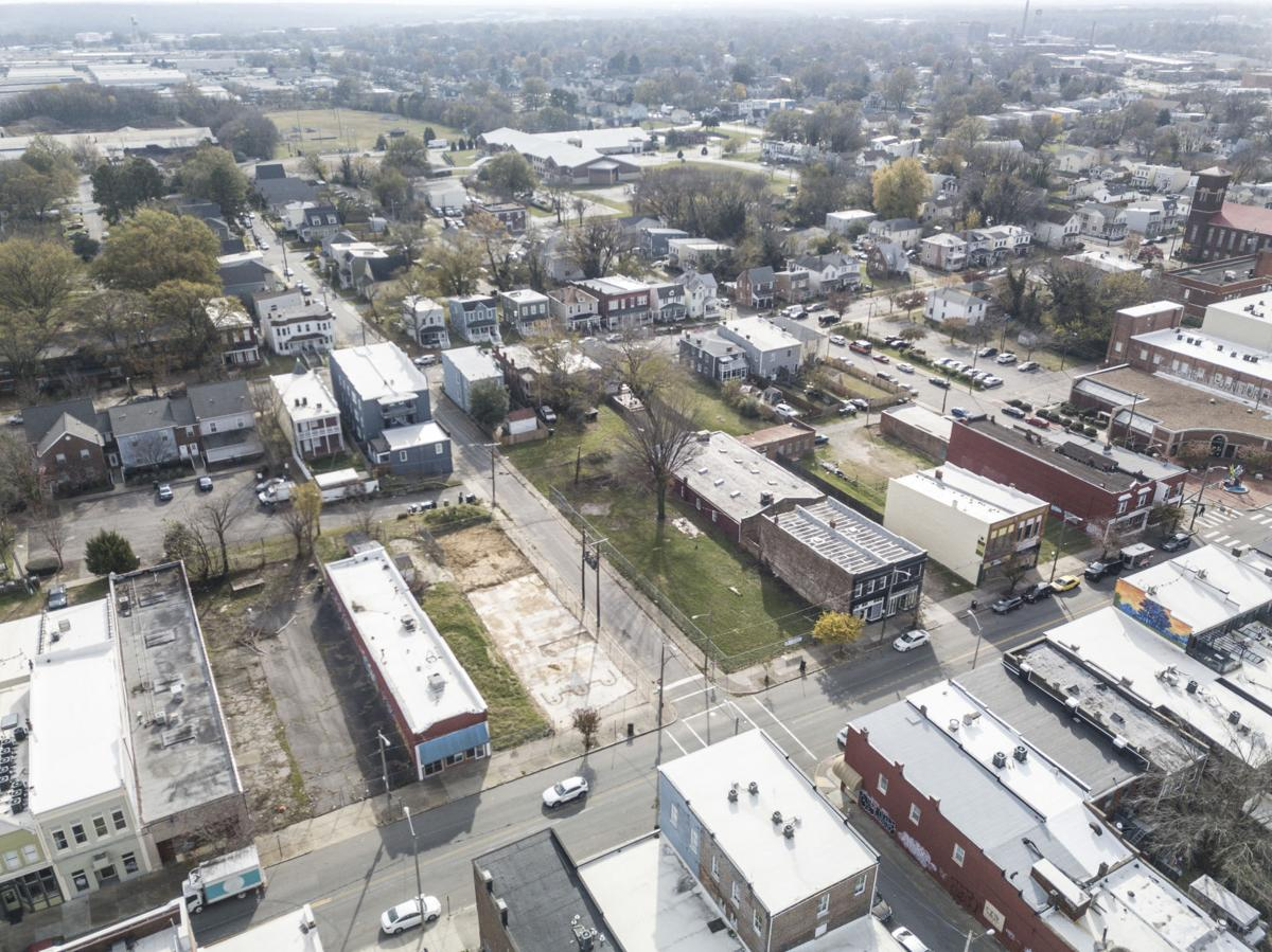 Aerial photos of Hull Street, Blackwell in South Richmond