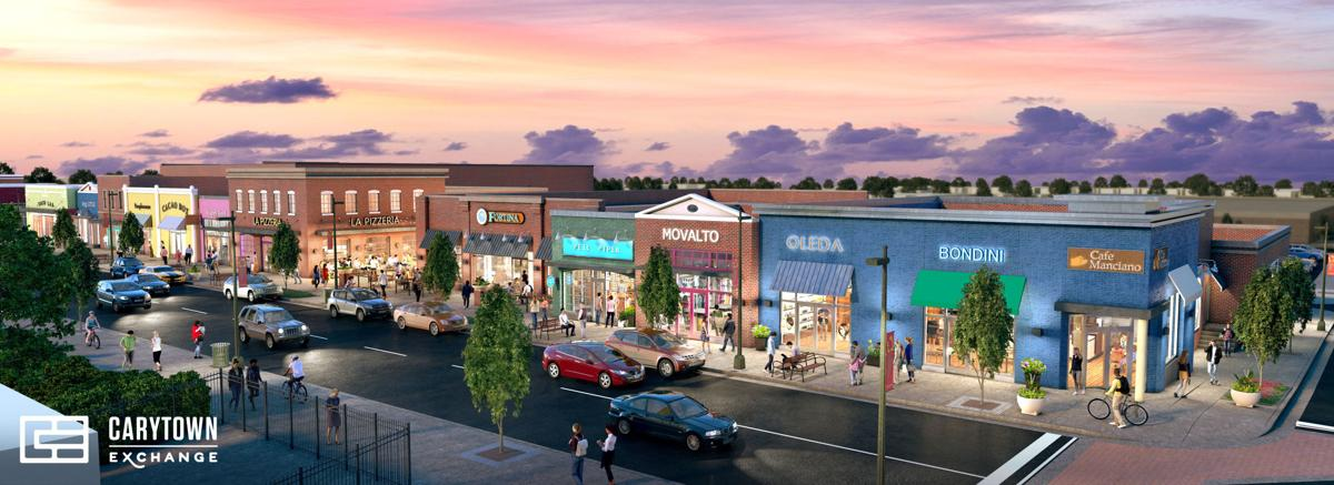 Renderings Of Carytown Exchange Show Stores Along Cary Street A Publix Supermarket And A Two Level Parking Deck Business News Richmond Com