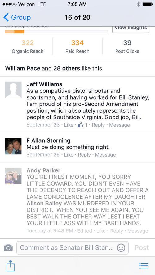 Sen. Bill Stanley facebook