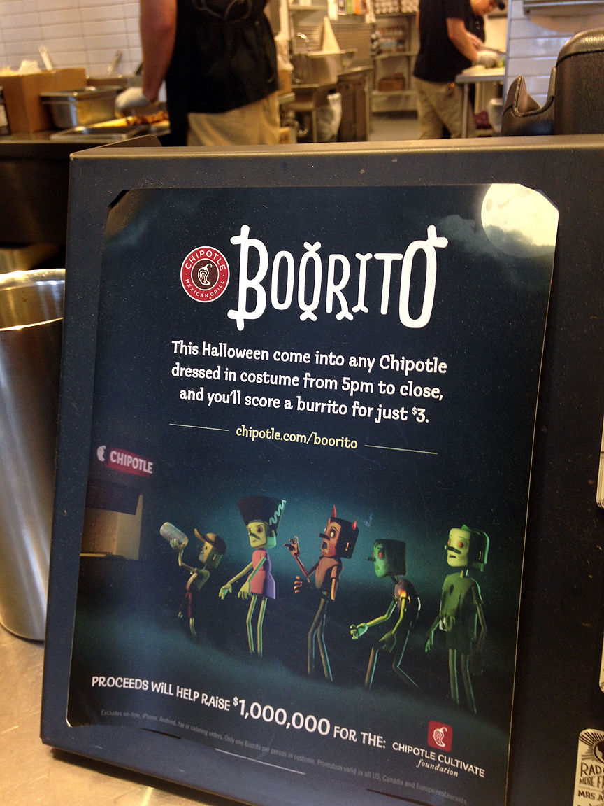 $3 Chipotle burritos Halloween costume required & $3 Chipotle burritos Halloween costume required | Rva-thrift-list ...