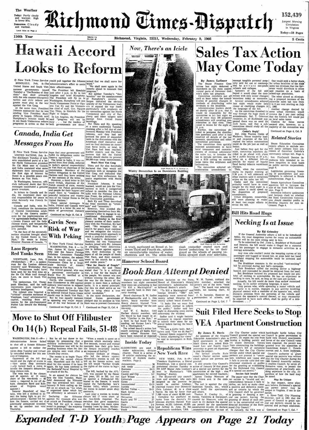 In 1966, Hanover schools stirred Harper Lee's ire after banning