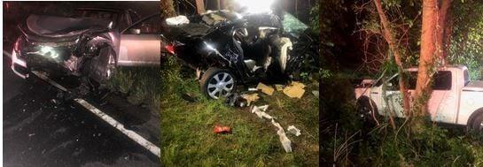 Crash scene on U.S. 60 in Powhatan County