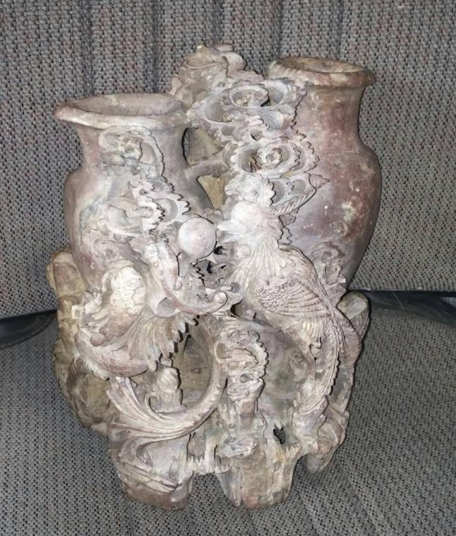 Whats It Worth Roseville Pottery Vase Chinese Soapstone Vase