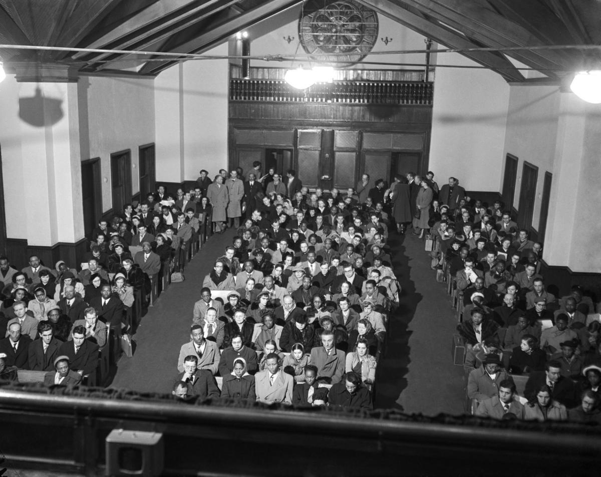 Martinsville church gathering, 1951
