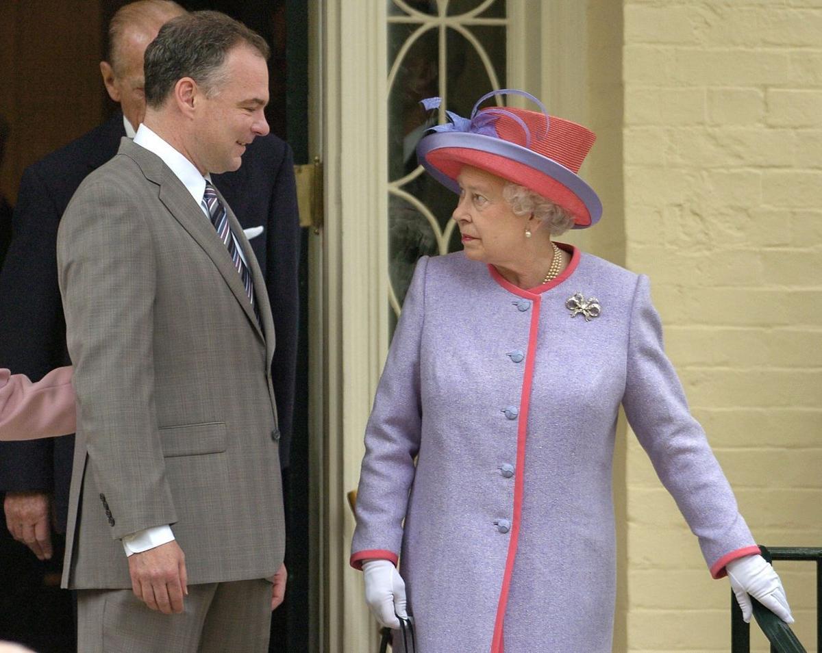 Queen Elizabeth II, Tim Kaine (copy)