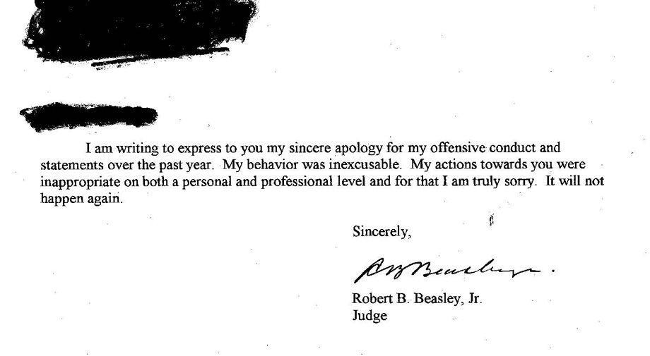 Local Judge Wrote Letters To 4 Clerks Apologizing For Offensive Conduct And Statements