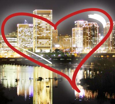 Richmond skyline - heart