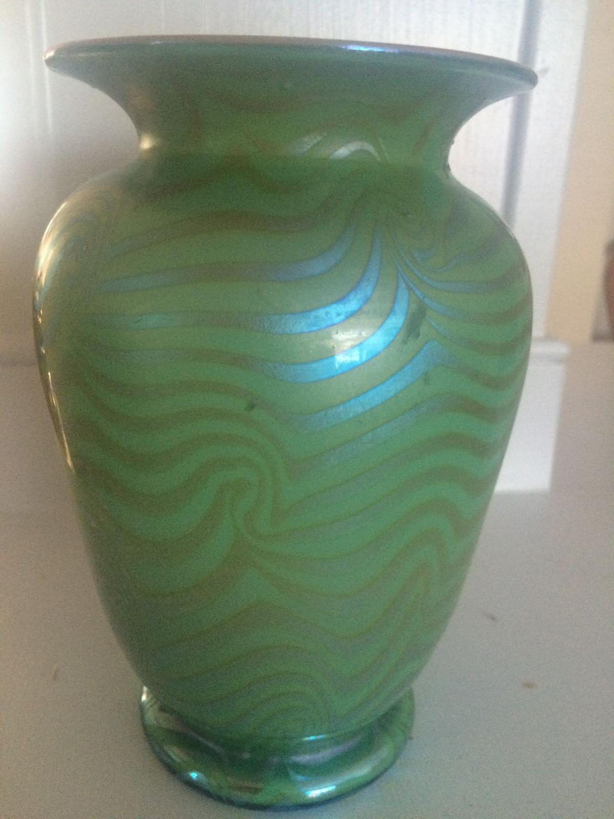 Whats it worth durand vase gilbert scott wright prints home this vase made by durand in tiffany type iridescent glass is worth at least 500 reviewsmspy