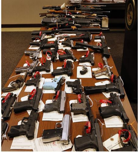 60 firearms were seized from High Society Hit Squad gang members and associates