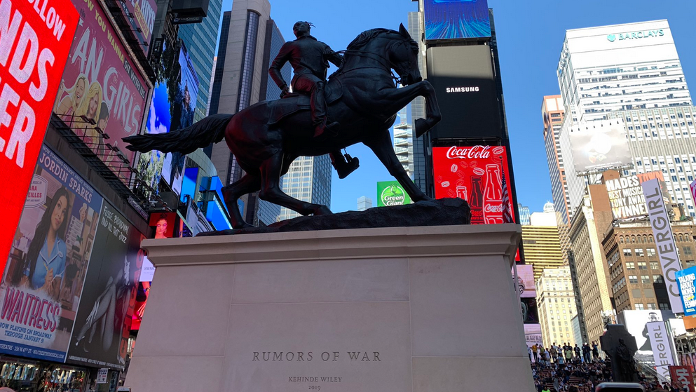 UPDATED WITH PHOTOS: Kehinde Wiley sculpture unveiled in Times Square, will be permanently installed in Richmond in December - Richmond.com